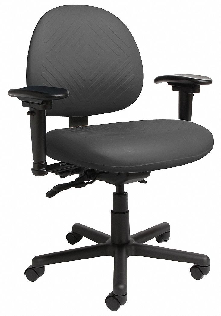 Cramer intensive 24 7 chair black 16 21 seat ht 22f007 for Cramer furniture