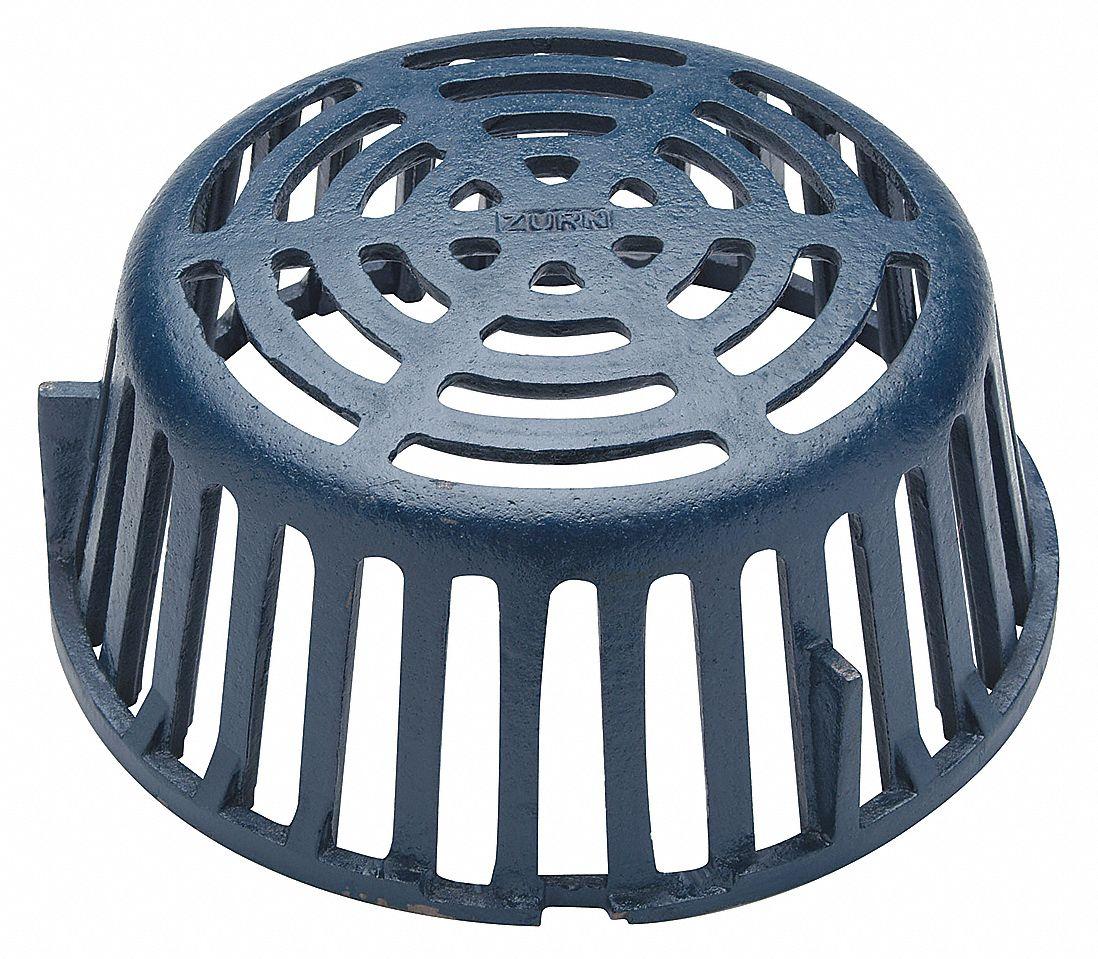 Zurn Cast Iron Blue Roof Drain Dome Pipe Dia Screw