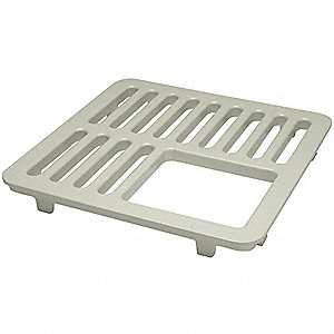 Three QTR Floor Drain Grate,8-7/8 In L
