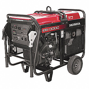 Portable Generator, 120/240 Voltage, 9000 Rated Watts, 10000 Surge Watts, 75/37.5 Amps @ 120/240V