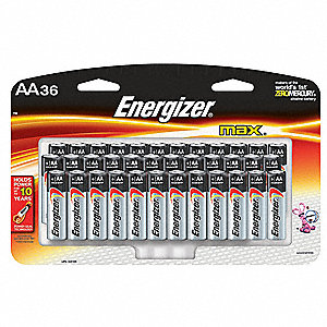 Battery,Alkaline,AA,PK36