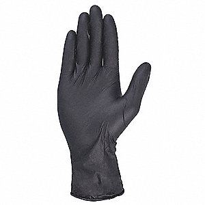 "Blacks Disposable Gloves, Nitrile, Powder Free, S, 5.00 mil Palm Thickness, 9-1/2"" Length"