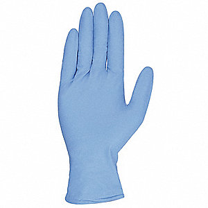 "Blues Disposable Gloves, Nitrile, Powdered, XL, 8.00 mil Palm Thickness, 9-1/2"" Length"