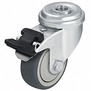 Hollow Kingpin Swivel Caster with Total Lock