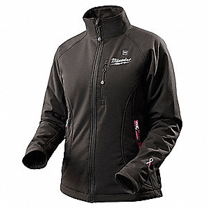 Women's Black/Pink Heated Jacket, Size: XL, Battery Included:  Yes