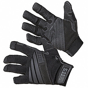 TAC K9 Dog Handler Gloves,XL,Black,PR