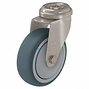Hollow Kingpin Swivel Caster,3 In,165 lb