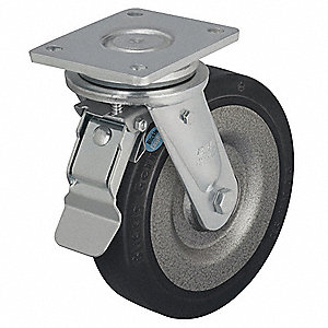 "7-7/8"" Plate Caster, 1320 lb. Load Rating"