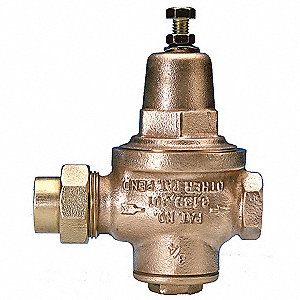 "Water Pressure Reducing Valve, Standard Valve Type, Bronze, 1"" Pipe Size"