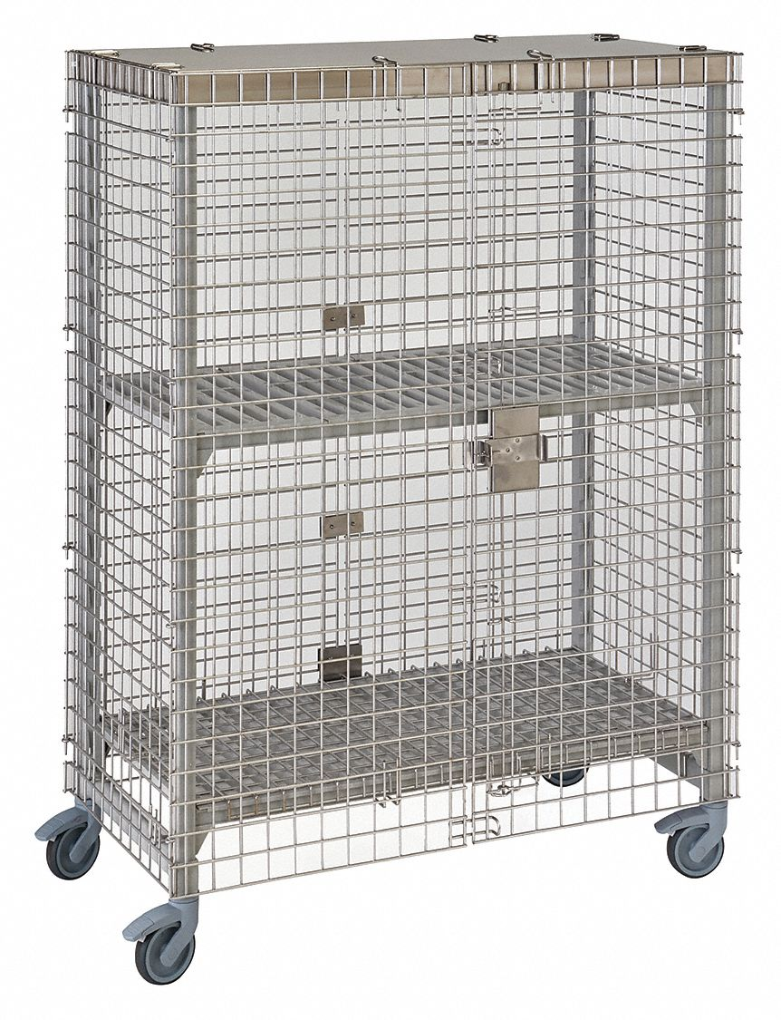 Cambro Mobile Security Unit 67 3 4 Quot H Spckld Gry 22nv15