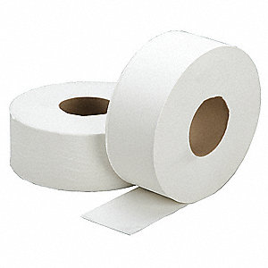 Toilet Paper,Jumbo,1-Ply,2000 Ft,PK12