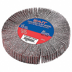 "4-1/2"" Flap Wheel, 3/4"" Width, 5/8-11 Arbor Size, Coated, Silicon Carbide, 40 Grit, Course"
