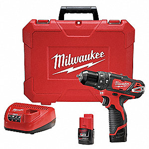 "3/8"" Cordless Hammer/Drill Driver Kit, Voltage 12.0 Li-Ion, Battery Included"