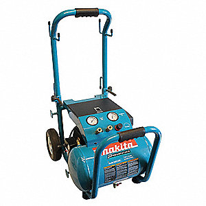 3.0 HP, 115VAC, 5.2 gal. Portable Electric Oil-Lubricated Air Compressor, 140 psi