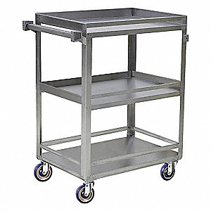 Utility Cart,Lipped Edge,500 lb.,SS