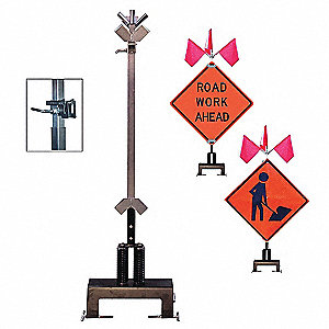 Barrier Mount Sign Stand