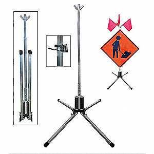 Sign Stand,Roll-Up,Aluminum,36 In.