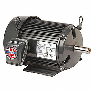 20 HP General Purpose Motor,3-Phase,1800 Nameplate RPM,Voltage 208-230/460,Frame 256T