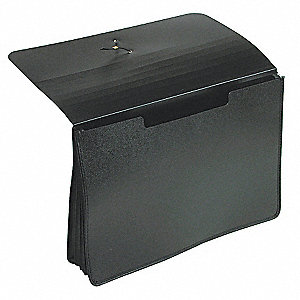 "Expandable File Wallet,5 1/4"",Poly"