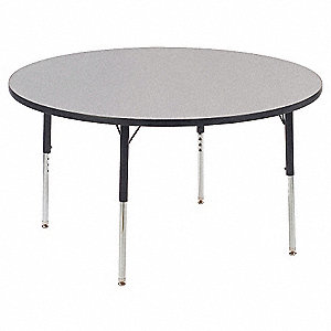 Activity Table,Round,48 In,Gray Nebula