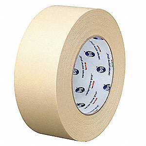 "Masking Tape, 60 yd. x 3"", Natural, 5.8 mil, Package Quantity 16"