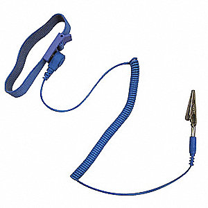 Wrist Band,Anti-Static,6 Ft Coil Cord