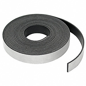 Adhesive Mag Strip, 15 Ft. L, 1/2 In W
