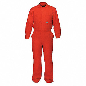 FR Cotton Blend  (88% Cotton, 12% Nylon), Flame-Resistant Coverall, Size: L, Color Family: Blues