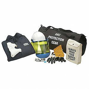Navy XL Arc Flash Protection Clothing Kit, 12 cal./cm2 ATPV Rating, 2 Hazard Risk Category (HRC)