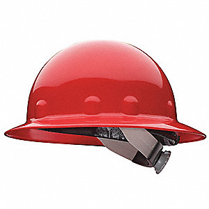 Hard Hat,Full Brim,E/G/C,Ratchet,Red