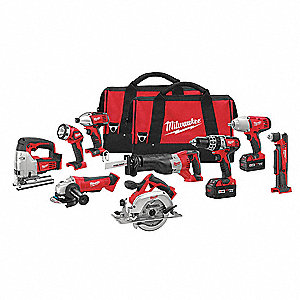 Cordless Combination Kit, Voltage 18.0 Li-Ion, Number of Tools 9