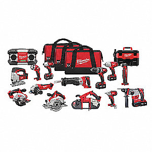 Cordless Combination Kit, Voltage 18.0 Li-Ion, Number of Tools 15