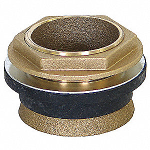 Brass Toilet Spud, Brass, For Use With Most Toilets