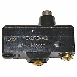 Industrial Snap Switch, SPST-NO Contact Form, 250VAC Voltage Rating, 25A Current Rating