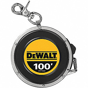 Steel 100 ft. SAE Long Tape Measure