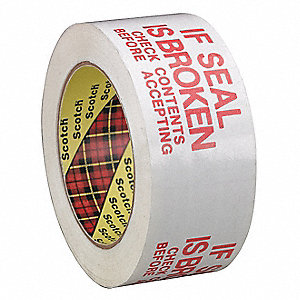 Carton Tape,Red on White,48mm x 100m