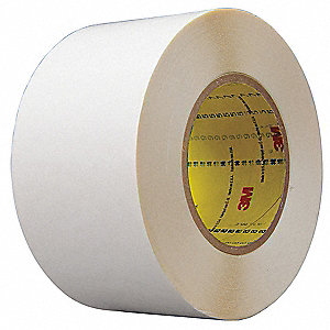 Double Sided Tape,HDPE,2 in,White,36 yd