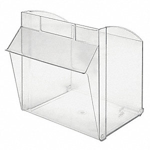 Repl. Bin Cup for Mfr. No. QTB301,Clear
