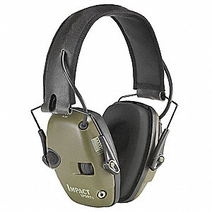Electronic Ear Muff,22dB,Grn