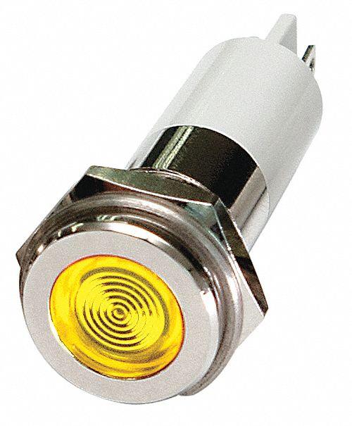 GRAINGER APPROVED Flat Indicator Light, LED Lamp Type