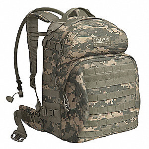 "AUC Hydration Pack, 100 oz./3L Capacity, Depth 3"", Length 17-1/4"", Width 7"""