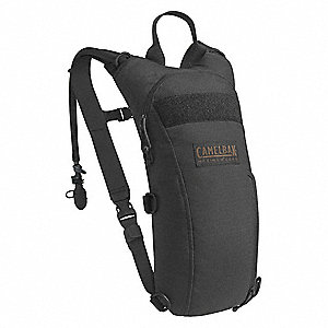 "Black Hydration Pack, 100 oz./3L Capacity, Depth 3"", Length 17-1/4"", Width 7"""