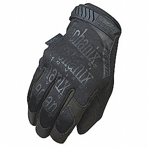 Cold Protection Gloves, Fleece Lining, Rubberized Reinforcement Cuff, Black, XL, PR 1