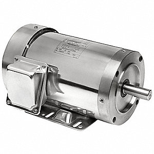 2 HP Washdown Motor,3-Phase,1740 Nameplate RPM,208-230/460 Voltage,Frame 56C