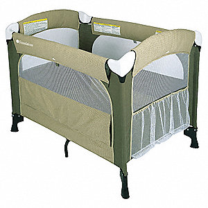 Play Yard Crib,Cilantro,1 In Mattress