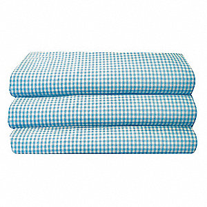 Cot Sheet,Toddler,Gingham,PK12