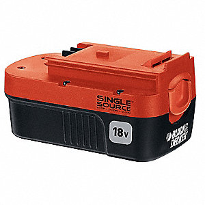 Battery Pack,18V,NiCd,1.5A/hr.