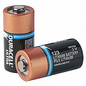 Lithium Battery, Voltage 3, Battery Size 123, 10 PK