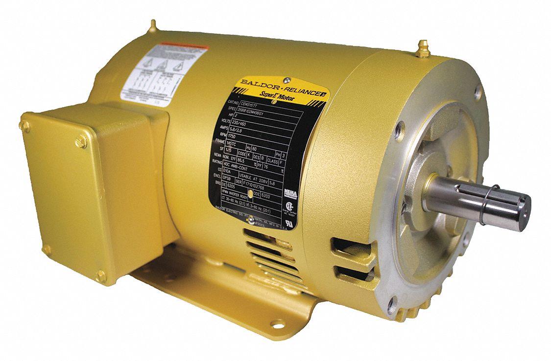 Baldor Electric Gp Motor 3 Ph 2 Hp 1750 Rpm 145tc 24tt69