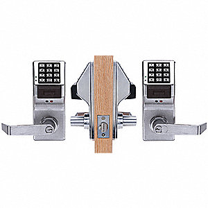 Electronic Keyless Lock, Entry with Key Override, Satin Chrome, Series PDL5300